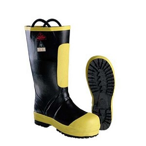 "Black Diamond Comfort Fit®  16"" Rubber Firefighter Boots with Enersole"