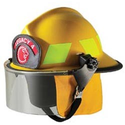 "Paul Conway Legacy 5® Structural FF Fire Helmet with 4"" Faceshield"