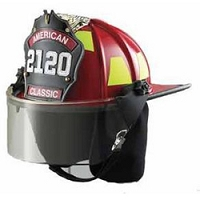 LION American Classic® Traditional Style Firefighting Helmet with Faceshield