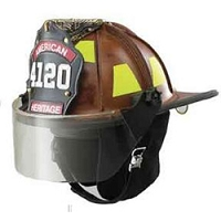 LION Heritage® Leather Structural FF Helmet with 4