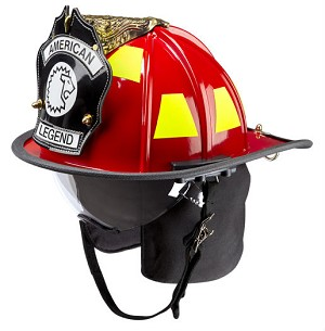 LION American Legend® Traditional Style Firefighting Helmet with Retractable Eyewear